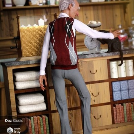 DAZ3D - Sweater Vest Outfit for Genesis 8 Male(s) 000157