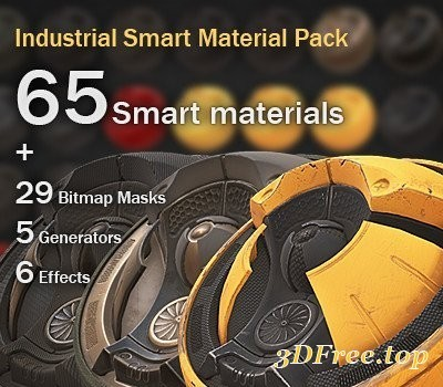 Artstation - 65 Industrial Smart Materials for Substance Painter
