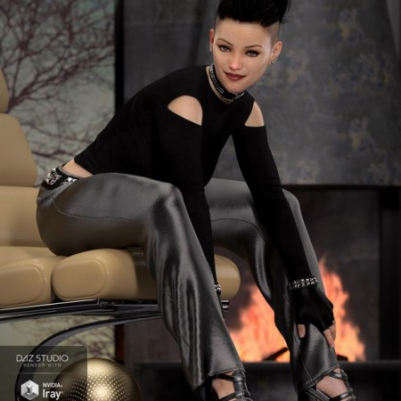 dForce Chic Fashion Gothic Outfit for Genesis 8 Female(s)