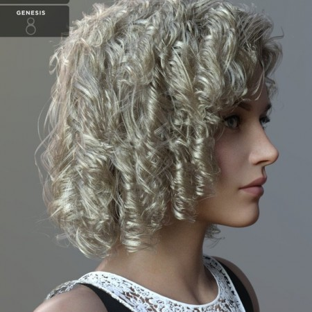 Julia Curly Locks for Genesis 8 and 8.1 Females