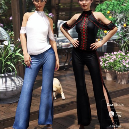 dForce Draped Pants Ensamble Textures