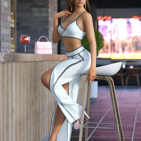 dForce Open Pants Outfit for Genesis 8 Females