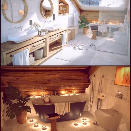 Winter Vacation Bathroom