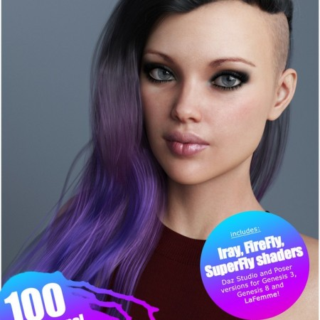 Xenya Hair Texture XPansion for Genesis 3 and 8 and La Femme