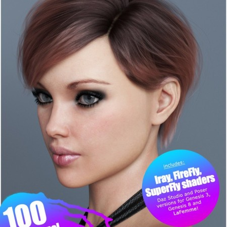 Ammy Hair Texture XPansion for Genesis 3 and 8 and La Femme
