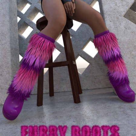Furry Boots for Genesis 8 Females