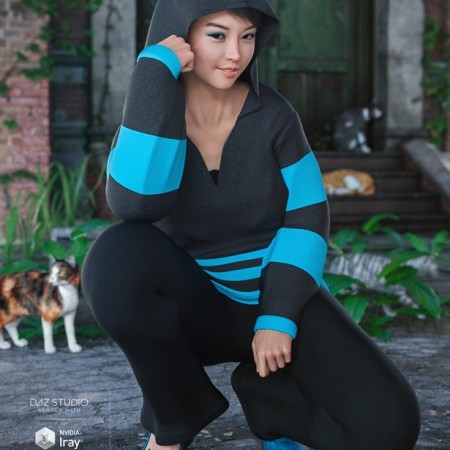 Casual Kitty Set for Genesis 8 Female(s)