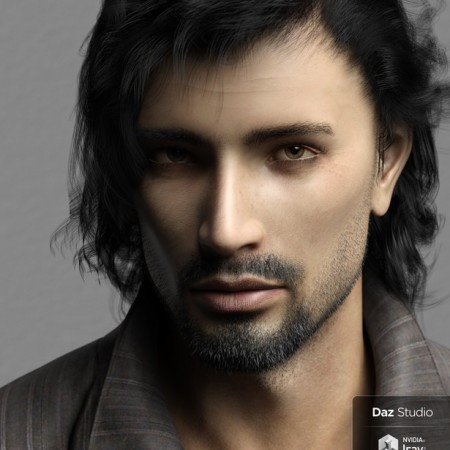 Phx Nasiri HD and Necklace for Genesis 8 Male